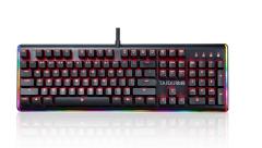 非现货7日达 钛度(Taidu)幻彩师智能电竞机械键盘 黑色Cherry茶轴 RGB炫彩灯带 104键 货号100.S1238