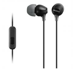 非现货7日达 索尼 MDR-EX15AP 入耳式智能手机通话耳机, 兼容多种智能手机 黑色 货号100.S1272