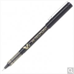 百乐BX-V7针管走珠笔0.7m办公用签字笔 中性水笔 黑色 12支装 货号100.S1305