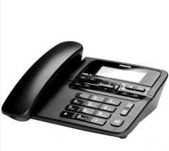 飞利浦免电池 来电显示电话机/家用座机/办公座机 黑色 货号100.X922