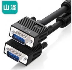山泽(SAMZHE)工程级VGA线 vga3+6 投影仪线电脑显示器连接线 针/针3米 货号100.XY116