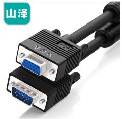 山泽(SAMZHE)VF-2015  vga3+6 VGA公对母连接线  针/孔 1.5米 货号100.XY118