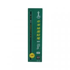 中华 101-2H 绘图书写铅笔 2H铅笔学生书写货号100.HY11281