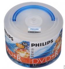 飞利浦(PHILIPS)DVD+R 16速 4.7G  桶装50片 刻录盘 货号:100.ZL