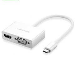 绿联 Type-C转HDMI/VGA转换器 扩展适配器转接头数据线 货号100.WYH005