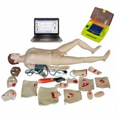 全功能急救训练模拟人 心肺复苏假人 血压测量 AED除颤 创伤护理 货号100.HY111