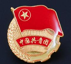 团徽 共青团 高档加厚铁质滴塑磁铁团徽 强磁团徽2.5公分小磁扣款10个/组     XH.371