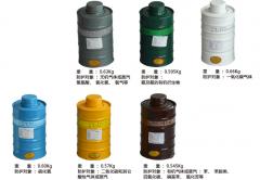 普达牌 滤毒罐 金属中号过滤长罐 货号100.S1459 P-K-3-4# 绿色