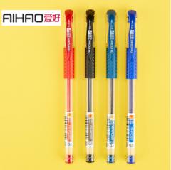 爱好(AIHAO) 中性笔0.5mm水笔芯黑色签字笔大容量碳素笔832 一支装 货号100.ZS092 墨蓝(1支)