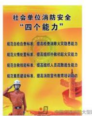 社会单位消防安全 四个能力 铝塑板 标牌 40cm×55cm货号100.ZC108