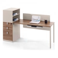 爱得帮 办公电脑桌员工桌简约书柜工作位职员桌左副柜 1600*650*1200 货号700