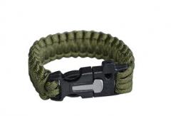 营地户外多功能求生手链 野外安全绳应急救生绳 7芯伞绳手环L25cm货号100.shw074