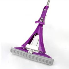 伊司洁(yisijie) 伊司洁海绵拖把大号38cm对折式拖把 紫色 共配1个原装棉头 货号100.ZS112