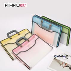 爱好(AIHAO) 文件包手提风琴包A4文件夹票据多层资料收纳袋 2366 货号100.ZS140 粉