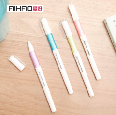 爱好(AIHAO) 中性笔0.35m黑色学生水笔全针管简约签字笔 47730 货号100.SQ151 随机颜色1盒12支