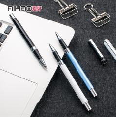 爱好(AIHAO) 中性笔0.5m学生金属水笔大容量黑红色碳素签字笔笔芯黑色8721 货号100.SQ156 黑色1支