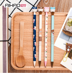 爱好(AIHAO) 卡通活动自动铅笔0.5/0.7日本可爱铅笔外壳颜色随机9700 货号100.SQ159 0.7mm40支