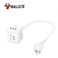 公牛迷你USB插座 GN-U303U 魔方插座旅行充电器 智能插线板  1.5米带USB 货号100.X1092