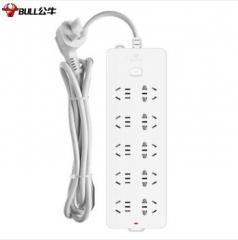 公牛(BULL) 公牛插座插排插板带线多用电源接线板 218 10插5米 货号100.X1094