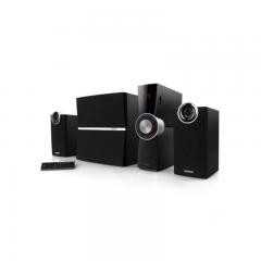 漫步者(EDIFIER)C2XB 外置功放 2.1多媒体蓝牙音箱 音响 电脑音箱 黑色 货号100.JQ038 普通版
