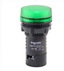 施耐德电气 XB2 LED型 绿色 指示灯 XB2BVB3LC 24VAC/DC货号100.MZ