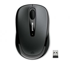 微软(Microsoft)无线蓝影便携鼠标3500 金属灰 货号100.MZ