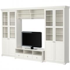 宜家LIATORP 赖尔多 电视组合柜 337厘米×49厘米×215厘米 白色