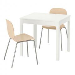 宜家 EKEDALEN/SVENBERTIL 伊克多兰/思伯帝 桌椅 80厘米/120厘米x70厘米x75厘米 白/桦木