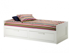 宜家 BRIMNES 百灵 坐卧两用床框架带双屉 86厘米×205厘米 白色