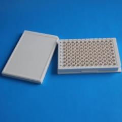 丫米 WHB耗材 全白96孔不可拆酶标板 灭菌 细胞培养板 货号100.MZ