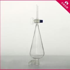 华鸥 梨型玻璃漏斗 油水分离 梨形分液漏斗 125ML 厚料 货号100.MZ