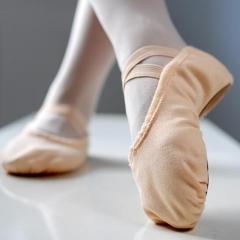 丹诗戈舞蹈鞋女软底练功鞋成人猫爪鞋儿童女童瑜伽芭蕾舞鞋 肉粉色 尺码请咨询客服 货号100.MZ
