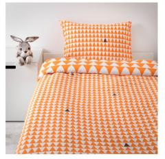 宜家STILLSAMT 斯蒂尔桑 儿童被套和枕套 150厘米×200厘米 淡橙色
