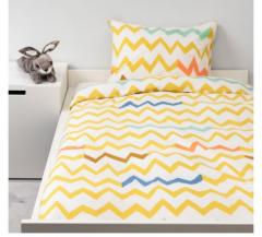 宜家STILLSAMT 斯蒂尔桑 儿童被套和枕套 150厘米×200厘米 黄色/多色
