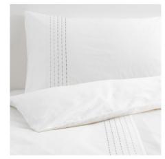 宜家BRUDBLOMMA 布鲁德布鲁马 被套和2个枕套 240厘米x220厘米 白色
