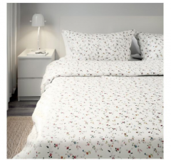 宜家LJUSÖGA 吉索加 被套和枕套 200厘米x230厘米 花朵 240厘米x220厘米