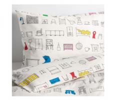 宜家HEMMAHOS 汉马豪斯 儿童被套和枕套 150厘米×200厘米 多色