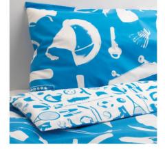 宜家TALANGFULL 特朗福 儿童被套和枕套 150厘米×200厘米 蓝色
