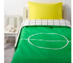 宜家SPELPLAN 斯普兰 儿童被套和枕套 150厘米×200厘米 绿色