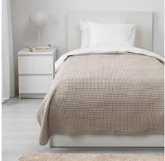 宜家VÅRELD 沃勒尔德 床罩 150厘米×250厘米 米黄色