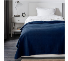 宜家INDIRA 英迪拉 床罩 150厘米×250厘米 深蓝色