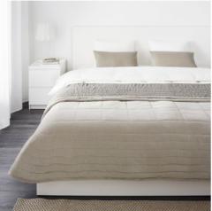 宜家PENNINGBLAD 潘布拉 床罩和靠垫套 260厘米×280厘米 灰色