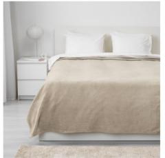 宜家TRATTVIVA 特拉特维瓦 床罩 150厘米×250厘米 米黄色