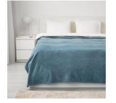 宜家TRATTVIVA 特拉特维瓦 床罩 230厘米×250厘米 浅蓝色
