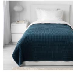 宜家VÅRELD 沃勒尔德 床罩 230厘米×250厘米 深蓝色