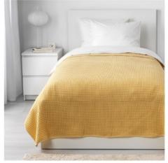 宜家VÅRELD 沃勒尔德 床罩 150厘米×250厘米 黄色