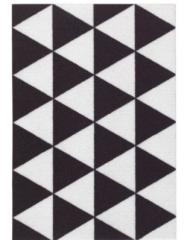 宜家SOMMAR 索玛 门垫 40厘米x60厘米 三角形 黑色/白色