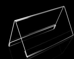 培友文具展示台牌 姓名架/台签/V型桌签 三角型桌签架 100*200MM 货号100.YH