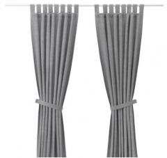 宜家 LENDA 伦达 附带窗帘 2幅 140厘米×250厘米 灰色 灰色