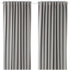 宜家 MAJGULL 梅格尔 遮光窗帘 2幅 145厘米x250厘米 灰色 灰色